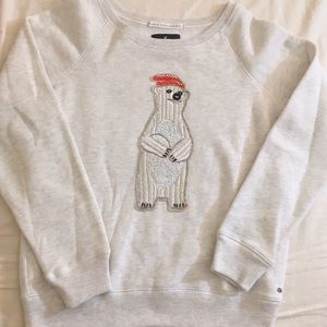 American Eagle polar bear sweater